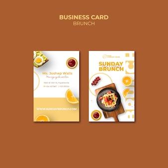 Modelo de cartão com conceito de brunch