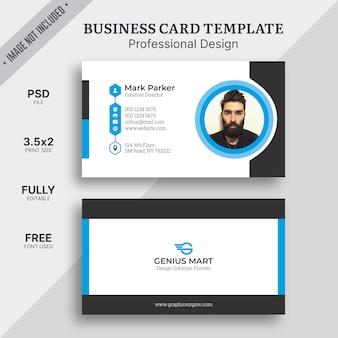 Modelo de cartão corporativo elegante azul