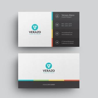 Modelo de cartão criativo de negócios corporativos