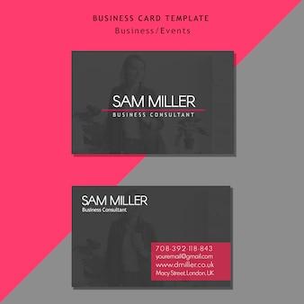Modelo de cartão de consultor de negócios