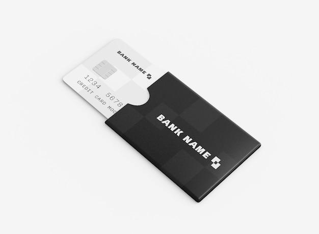 Modelo de cartão de crédito na pasta