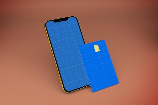 Modelo de cartão de crédito para smartphone