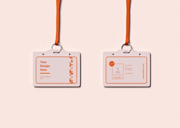 Modelo de cartão de identidade