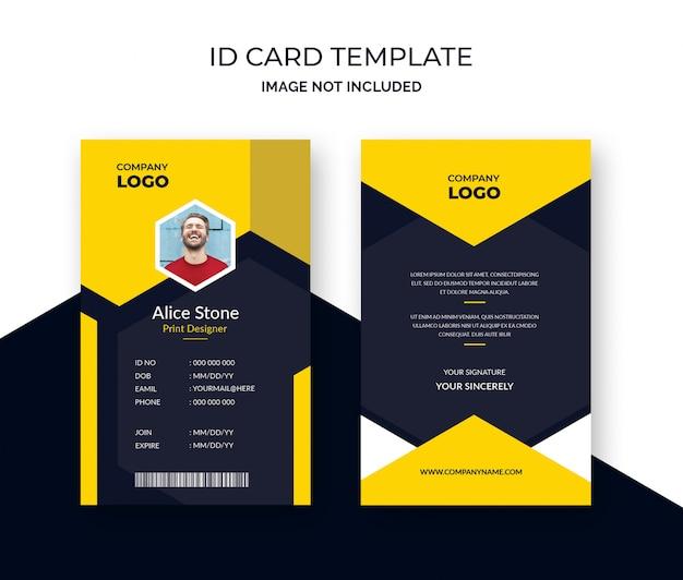Modelo de cartão de identificação corporativa