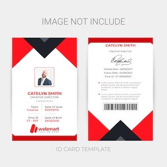 Modelo de cartão de identificação criativa