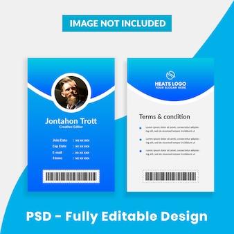 Modelo de cartão de identificação de empresa criativa