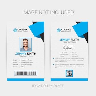 Modelo de cartão de identificação de escritório