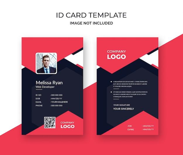 Modelo de cartão de identificação profissional