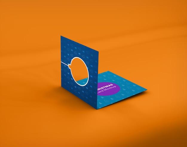Modelo de cartão de natal isolado