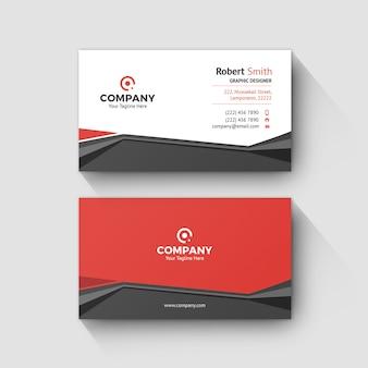 Modelo de cartão de negócios 0077