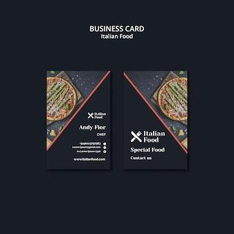 Modelo de cartão de negócios - comida italiana
