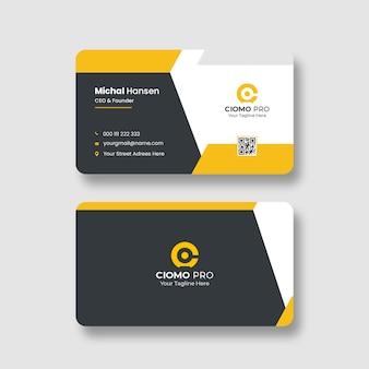 Modelo de cartão de negócios corporativo limpo
