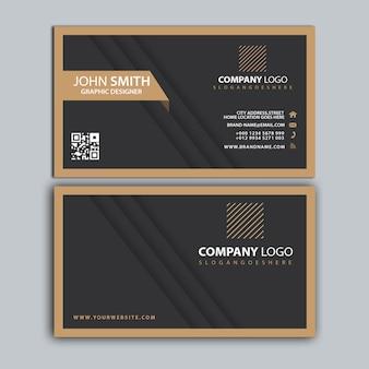 Modelo de cartão de negócios corporativo profissional