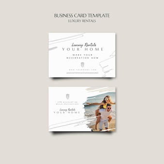 Modelo de cartão de negócios de aluguel de luxo