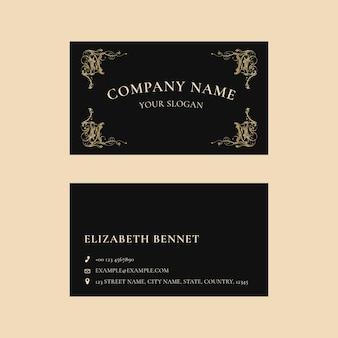 Modelo de cartão de negócios de luxo psd em design minimalista