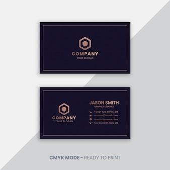 Modelo de cartão de negócios de luxo roxo