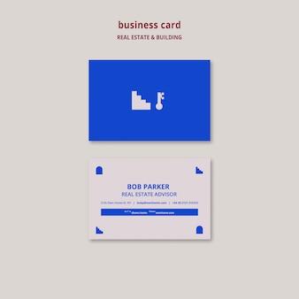Modelo de cartão de negócios imobiliário e de construção