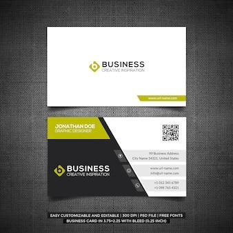 Modelo de cartão de negócios limpo e mínimo moderno