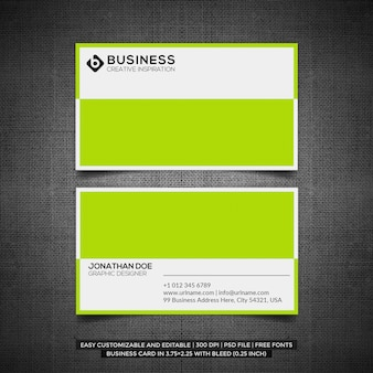 Modelo de cartão de negócios limpo e mínimo