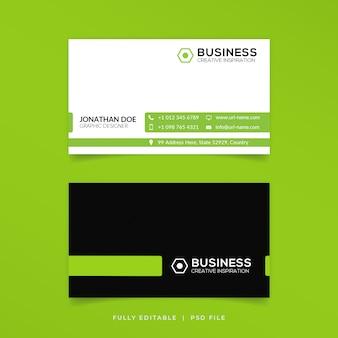 Modelo de cartão de negócios limpo moderno
