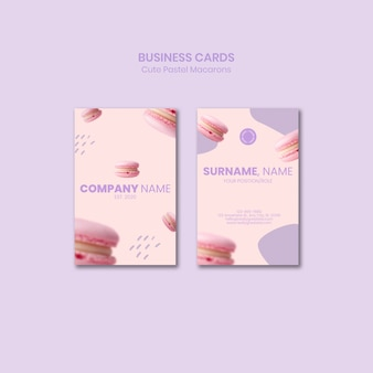 Modelo de cartão de negócios - macarons saborosos