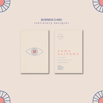 modelo de cartão de negócios minimalista