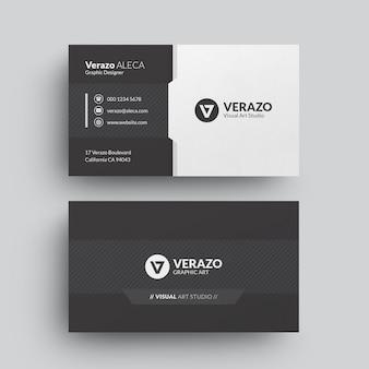 Modelo de cartão de negócios moderno