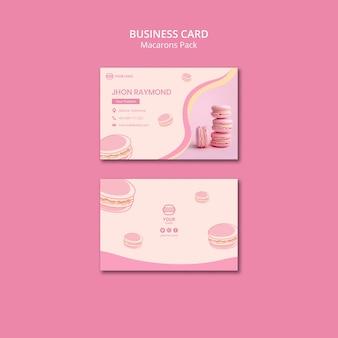 Modelo de cartão de negócios - pacote de macarons