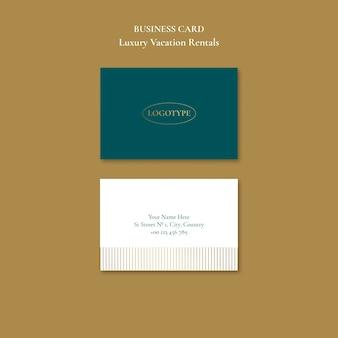 Modelo de cartão de negócios para aluguel por temporada de luxo