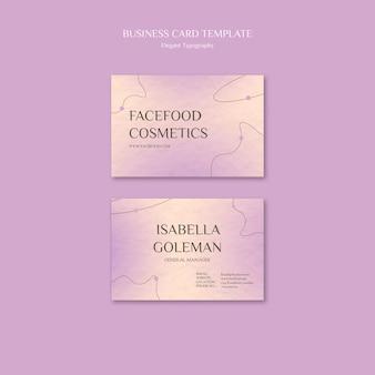 Modelo de cartão de negócios para cuidados com a pele