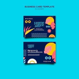 Modelo de cartão de negócios para home office