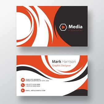 Modelo de cartão de negócios profissional ondulado psd corporativo