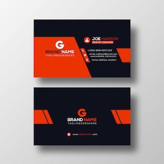 Modelo de cartão de negócios profissional