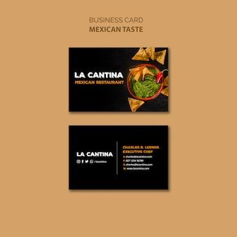 Modelo de cartão de negócios - restaurante mexicano