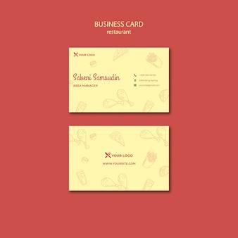 Modelo de cartão de negócios - restaurante