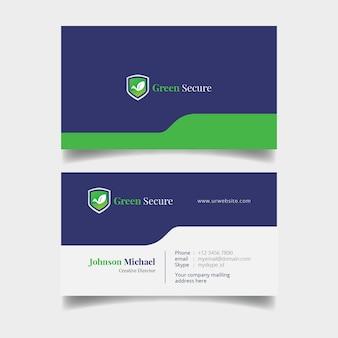 Modelo de cartão de negócios simples