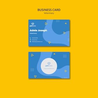 Modelo de cartão de negócios veterinário de cuidados com animais de estimação