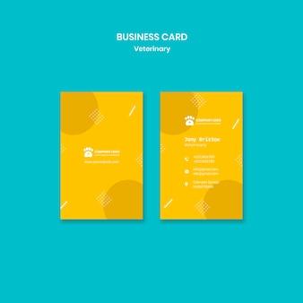 Modelo de cartão de negócios veterinário