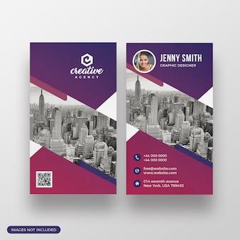 Modelo de cartão-de-visita - agência criativa