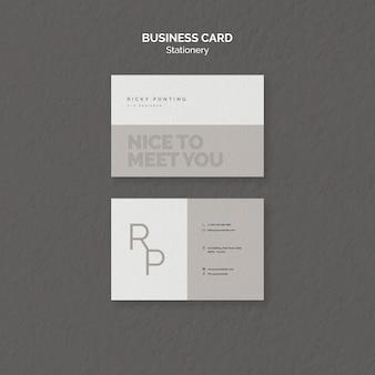 Modelo de cartão-de-visita - artigos de papelaria
