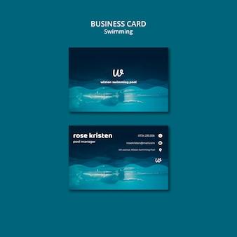 Modelo de cartão-de-visita - aulas de natação