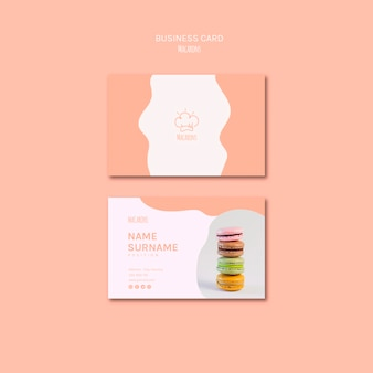 Modelo de cartão de visita com macarons