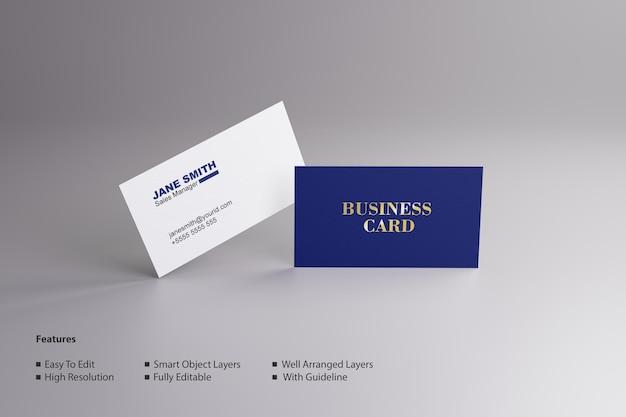 Modelo de cartão de visita com visual clássico psd editável