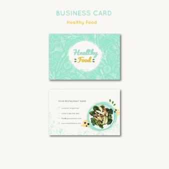 Modelo de cartão-de-visita - comida saudável