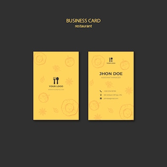 Modelo de cartão-de-visita - conceito de brunch