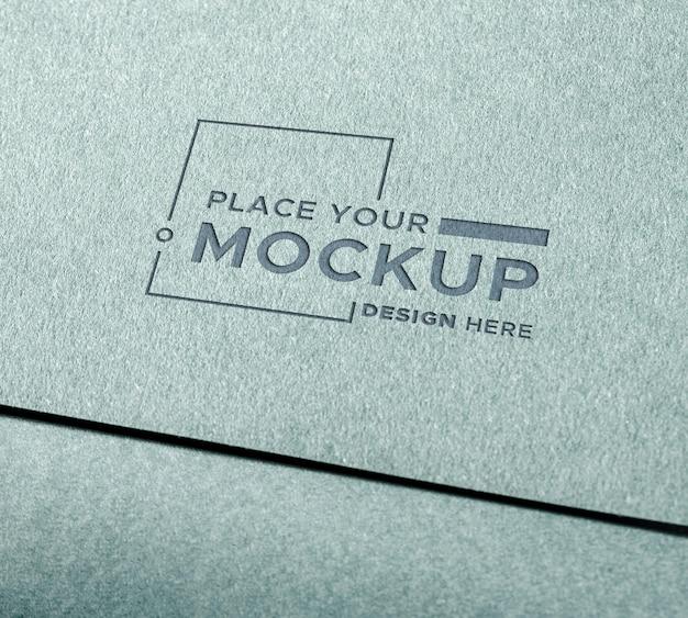 Modelo de cartão de visita de close-up
