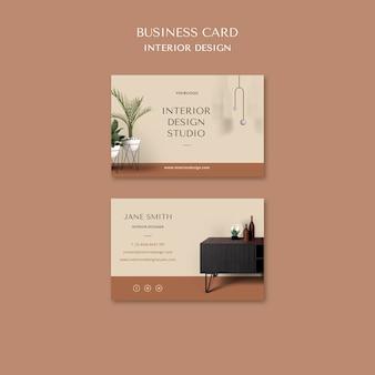 Modelo de cartão de visita de design de interiores
