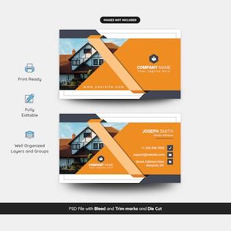 Modelo de cartão de visita de empresa imobiliária