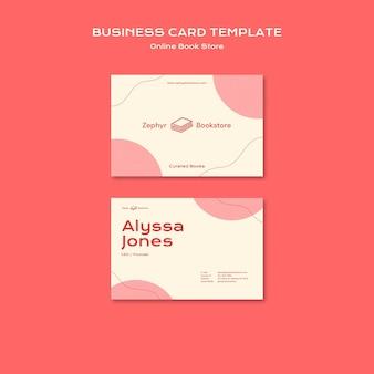 Modelo de cartão de visita de livraria online