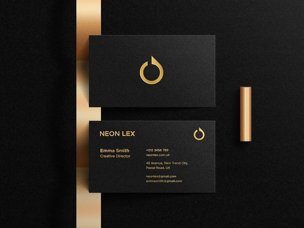 Modelo de cartão de visita de luxo com logotipo de tipografia